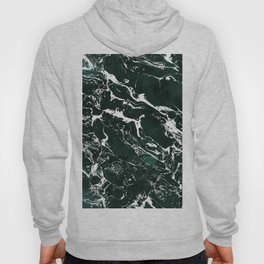 Dark green forest watercolor white marble christmas pattern Hoody