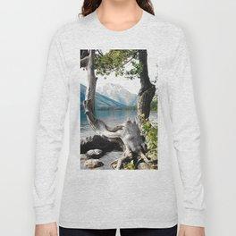 Tetons at Jackson Lake Wyoming Long Sleeve T-shirt