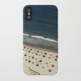 Tel-Aviv beach at summer, high from above, Israel, scaned sx-70 Polaroid iPhone Case