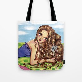 Girl and fairy Tote Bag