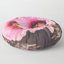 Faded Desert Blooms Floor Pillow