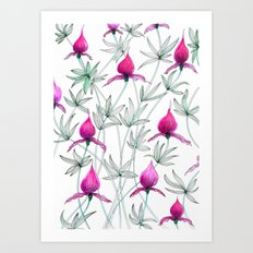 small purple flowers Art Print