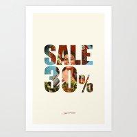 sale Art Prints featuring Sale by Gerko