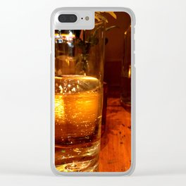 SPARKLING GOLDEN WATER Clear iPhone Case