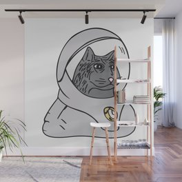 Stoic Spacecat Wall Mural