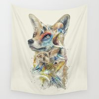 heroes Wall Tapestries featuring Heroes of Lylat Starfox Inspired Classy Geek Painting by Barrett Biggers