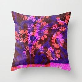 flower disco Throw Pillow