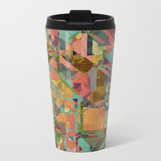 Aztec Vintage Pattern 03 Metal Travel Mug