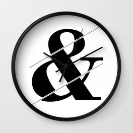 """""""Sliced Collection"""" - Minimal Ampersand Sign Print Wall Clock"""