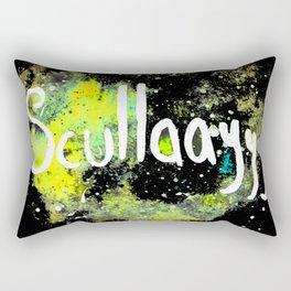 Scullayyy Yellow & Green Nebula Rectangular Pillow