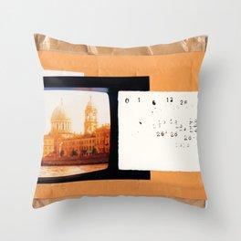 Envelope Collage Throw Pillow