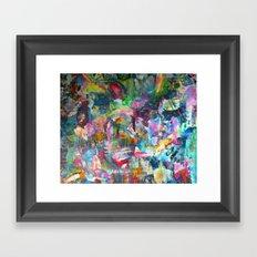 REM white noise Framed Art Print