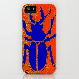 Blue Staghorn Beetle iPhone Case