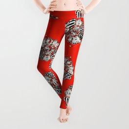 Its Your Birthday- Zentangle Illustration Leggings