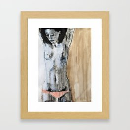 I suppose we're all proud of something Framed Art Print