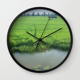 Rice Fields of Vietnam Wall Clock