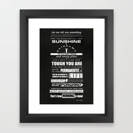 Motivational poster rocky balboa speech Framed Art Print