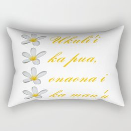 Hawaiian Text Ukuli'i Ka Pua, Onaona I Ka Mau'u Rectangular Pillow