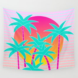 Hello Miami Sunset Wall Tapestry