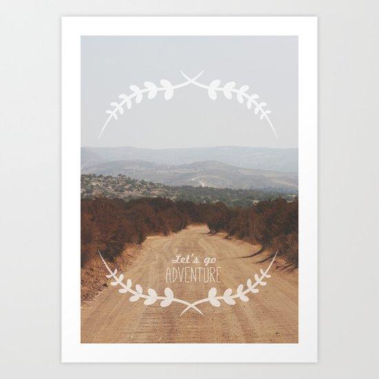 Let's go Adventure Art Print