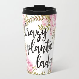 Crazy Plant Lady - Floral wreath Botanical Travel Mug