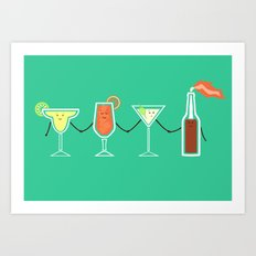 Cocktails! Art Print