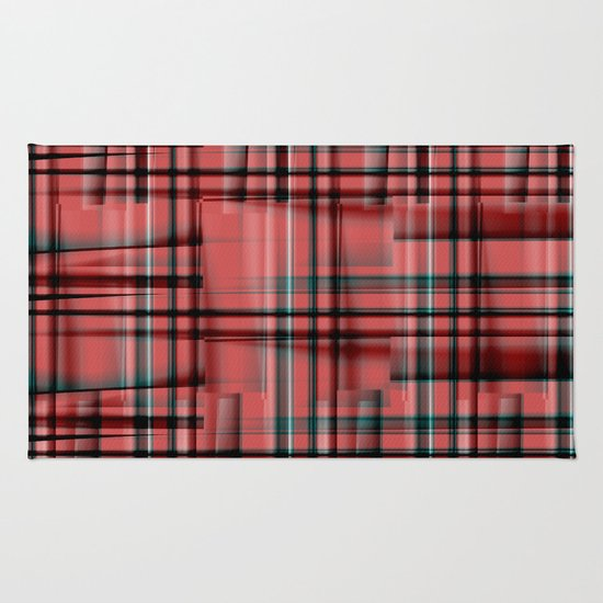 Pattern red 1 Rug