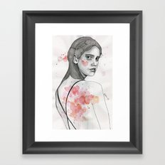 Monday nostalgia, watercolor artwork Framed Art Print