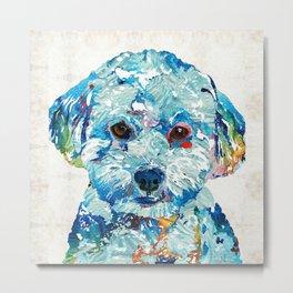 Small Dog Art - Soft Love - Sharon Cummings Metal Print