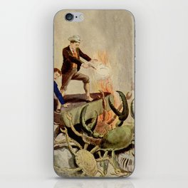 Giant crabs attack iPhone Skin