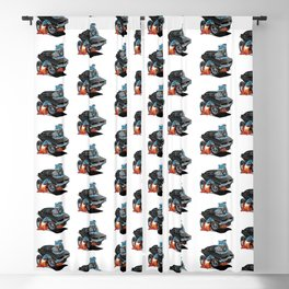 Classic 69 American Muscle Car Cartoon Blackout Curtain