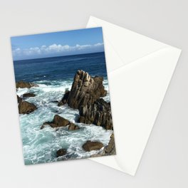 Waves crashing on rocks in Monterey Bay Stationery Cards