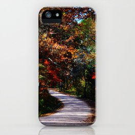 Back Country Road near Lesterville, Missouri in the Fall  iPhone Case