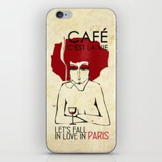 Café c'est la vie - Paris iPhone & iPod Skin