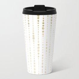 NYC Nights Gold Polka Dot Stripes Travel Mug