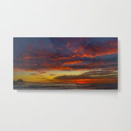 Red Clouds Over Catalina Metal Print