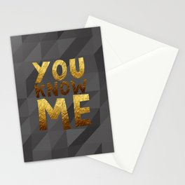 YOU KNOW ME #GOLDENPSALMS Stationery Cards