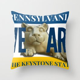 Pennsylvania We Are Nittany Lion Gifts Throw Pillow
