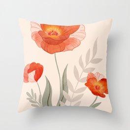 Summer Flowers II Throw Pillow