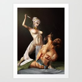 The murder Art Print