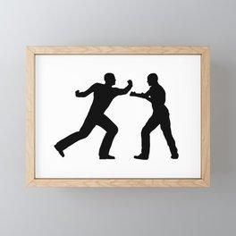 Fight Scene Framed Mini Art Print