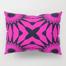 Pink & Black Flowers Pillow Sham
