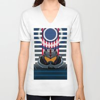 pacific rim V-neck T-shirts featuring Pacific Rim v2 by milanova