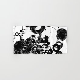 Black and white Pattern Abstract Hand & Bath Towel