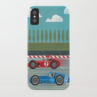 racing iPhone & iPod Cases featuring Retro Racing by we are 3 fish