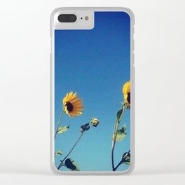 Summer Sunflowers Clear iPhone Case
