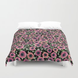 Mistletoe Floral Christmas 2017, New Year 2018 by Magenta Rose Designs Duvet Cover