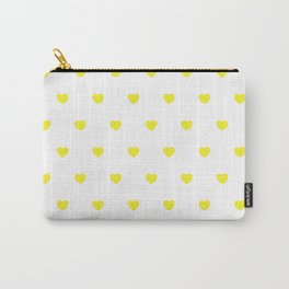 HEARTS ((sunshine yellow on white)) Carry-All Pouch