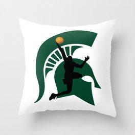 Michigan Basketball Throw Pillow