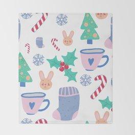 Christmas pattern Throw Blanket